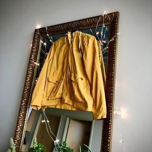 Jackets & Blazers - Cute yellow jacket with denim hood